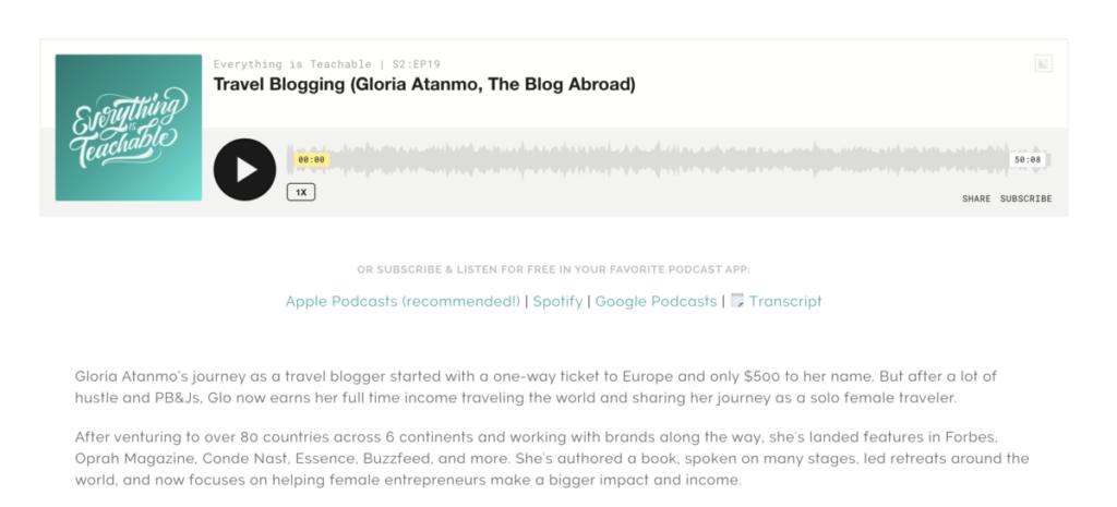 Meu próximo capítulo - O blog no exterior - Gloria Atanmo