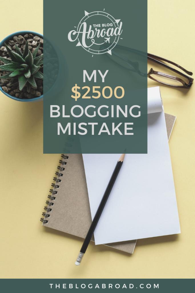 Blogs irresponsáveis: Meu erro de $ 2500 | O Blog no Exterior | Gloria Atanmo Pinterest